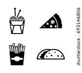 junk food. simple related... | Shutterstock .eps vector #693146806