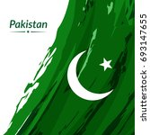 independence day of pakistan.... | Shutterstock .eps vector #693147655
