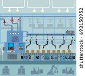 conveyor automatic production... | Shutterstock .eps vector #693150952
