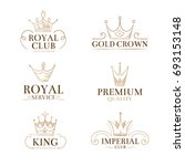 vintage princess labels and... | Shutterstock . vector #693153148
