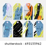 hand drawn creative tags.... | Shutterstock .eps vector #693155962