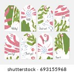 hand drawn creative tags.... | Shutterstock .eps vector #693155968