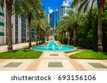 cityscape view of the brickell... | Shutterstock . vector #693156106