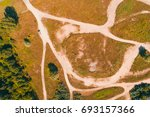 top view on off road race track | Shutterstock . vector #693157366