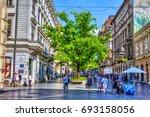 serbia  belgrade   july 26 ...   Shutterstock . vector #693158056