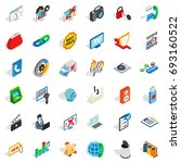 www marketing icons set.... | Shutterstock .eps vector #693160522