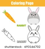 Coloring Page With Rabbit ...