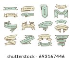 retro hand drawn cartoon... | Shutterstock . vector #693167446