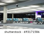 airport terminal at night | Shutterstock . vector #693171586