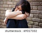 young beautiful closed eye girl ... | Shutterstock . vector #69317332