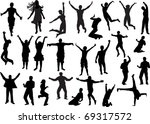illustration with happy people... | Shutterstock .eps vector #69317572