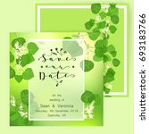 save the date card  wedding...   Shutterstock .eps vector #693183766