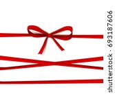 luxury thin gift bow with three ... | Shutterstock .eps vector #693187606