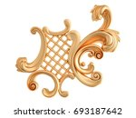 gold ornament on a white... | Shutterstock . vector #693187642