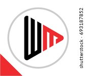 logo icon play button shape... | Shutterstock .eps vector #693187852