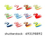 collection of waving ribbon... | Shutterstock .eps vector #693198892