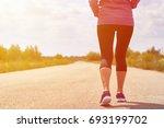 girl in pink hoodie is... | Shutterstock . vector #693199702