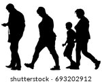 families with child on white... | Shutterstock .eps vector #693202912