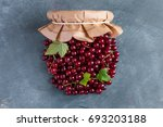fresh red currant like a jar...   Shutterstock . vector #693203188