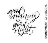 good morning and good night... | Shutterstock .eps vector #693207076