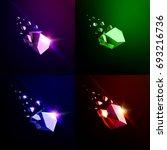 falling beauty stone ... | Shutterstock .eps vector #693216736