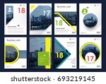 a4 brochure cover design.... | Shutterstock .eps vector #693219145
