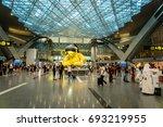 doha  qatar   june 2017   doha...   Shutterstock . vector #693219955