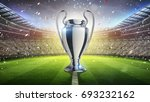 europe cup. silver trophy.... | Shutterstock . vector #693232162