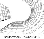 abstract architecture vector... | Shutterstock .eps vector #693232318