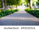 low angle park path landscape...   Shutterstock . vector #693232516