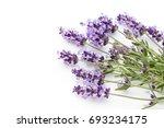 lavender flowers on a white... | Shutterstock . vector #693234175