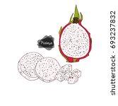 hand drawn sketch style half...   Shutterstock .eps vector #693237832
