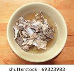 pork bone soup - stock photo