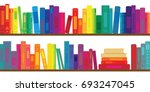 vector illustration of books... | Shutterstock .eps vector #693247045