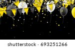 black background with yellow... | Shutterstock .eps vector #693251266