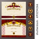 set of elegant templates of...   Shutterstock .eps vector #693254266