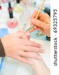 manicure in process.closeup... | Shutterstock . vector #69325795