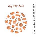 pet shop vector set. dry pet... | Shutterstock .eps vector #693261226