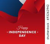 banner or poster of czech... | Shutterstock .eps vector #693262942