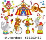vector circus set. set includes ... | Shutterstock .eps vector #693263452