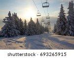 ski lift | Shutterstock . vector #693265915