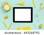 digital tablet and school... | Shutterstock . vector #693268792