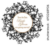 invitation with floral... | Shutterstock .eps vector #693268936