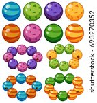 marbles in different colors... | Shutterstock .eps vector #693270352