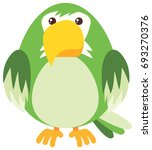 green parrot on white... | Shutterstock .eps vector #693270376