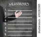 hands of businessman in black... | Shutterstock . vector #693282385