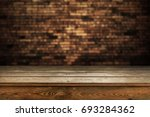 wooden table background | Shutterstock . vector #693284362