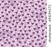 flower pattern with hearts.... | Shutterstock .eps vector #693294172