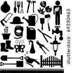 Silhouettes Vector Of Shovels ...