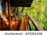 eco jungle lodge   Shutterstock . vector #693306148